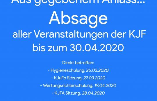 Absage: Alle Veranstaltungen bis 30.04.2020