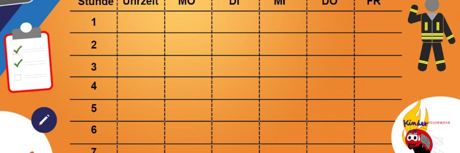 Stundenplan der KJF Peine